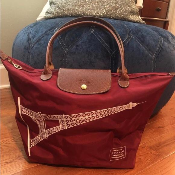 9bb2029ac08 Longchamp Handbags - Longchamp Le Pilage tote, limited Paris edition